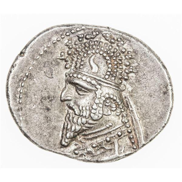 PARTHIAN KINGDOM: Gotarzes I, c. 90-80 BC, AR drachm (4.00g). EF