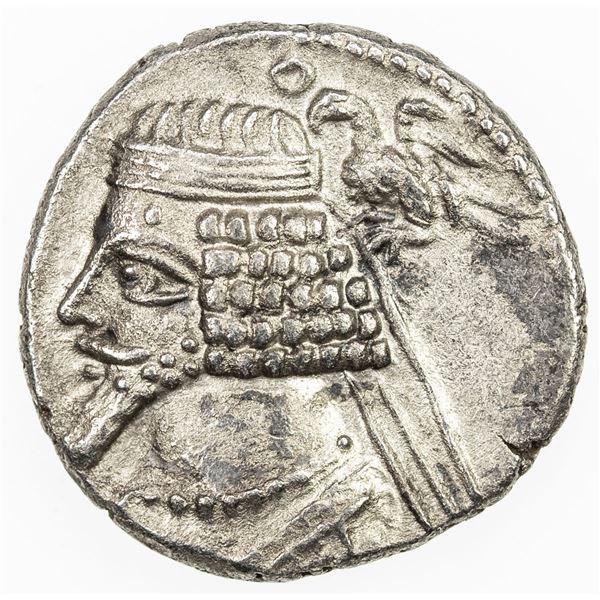 PARTHIAN KINGDOM: Phraates IV, 38-2 BC, AR drachm (3.59g), Court mint at Rhagai. EF