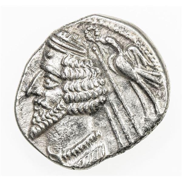 PARTHIAN KINGDOM: Phraates IV, 38-2 BC, AR drachm (3.44g), Mithradatkart. EF