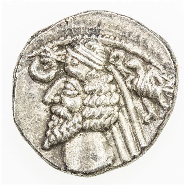 PARTHIAN KINGDOM: Phraates IV, 38-2 BC, AR drachm (3.34g), Mithradatkart. EF