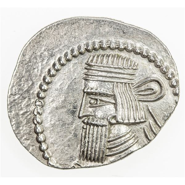 PARTHIAN KINGDOM: Artabanos II, AD 10-38, AR drachm (3.67g), Mithradatkart. EF
