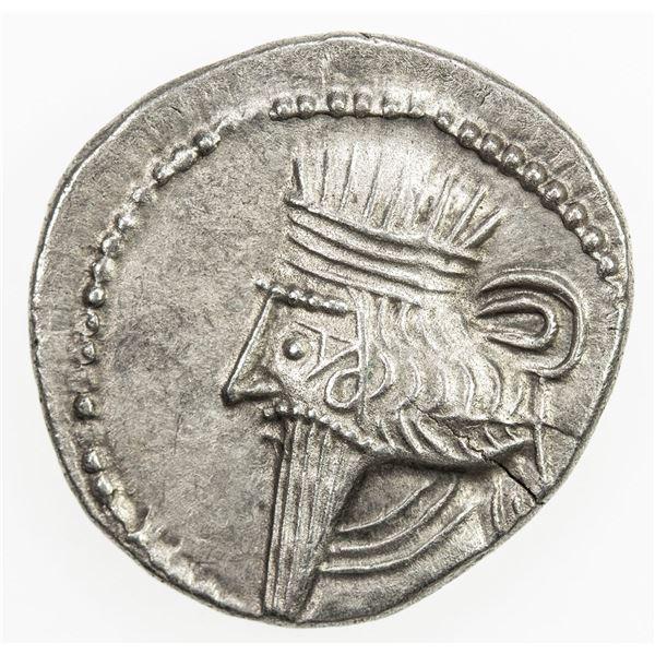PARTHIAN KINGDOM: Vologases III, AD 105-147, AR drachm (3.10g), Ekbatana. EF