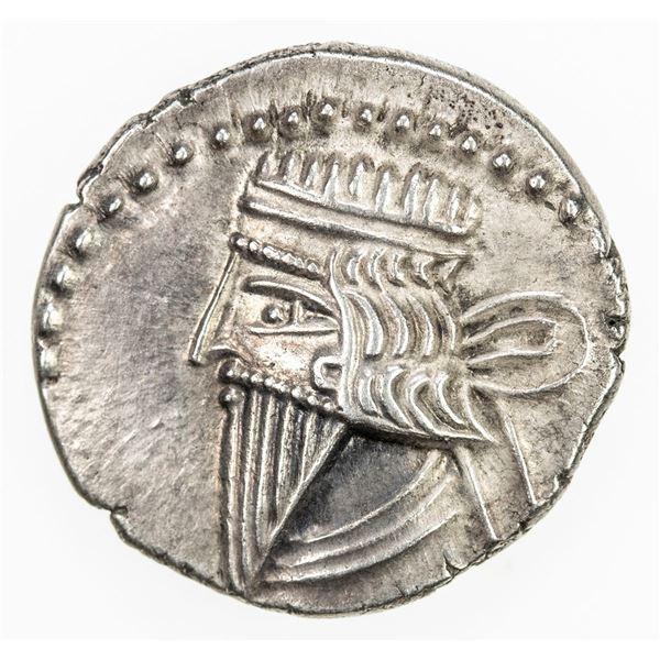PARTHIAN KINGDOM: Mithradates IV, AD 129-140, AR drachm (3.79g). EF