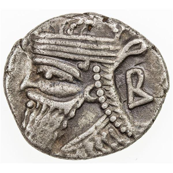 PARTHIAN KINGDOM: Vologases IV, 137-191 AD, BI tetradrachm (13.12g), Seleukeia on the Tigris, SE499