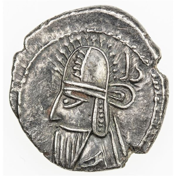 PARTHIAN KINGDOM: Vologases VI, AD 208-228, AR drachm (3.50g), Ekbatana. EF