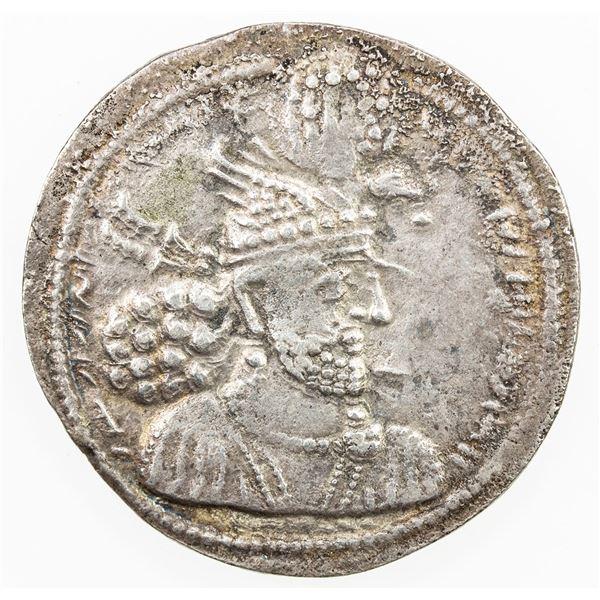 SASANIAN KINGDOM: Hormizd II, 303-309, AR drachm (4.03g). VF-EF