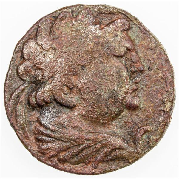 "YUEH CHI: ""Heliokles"", 1st century BC, AE tetradrachm (16.09g). VF"