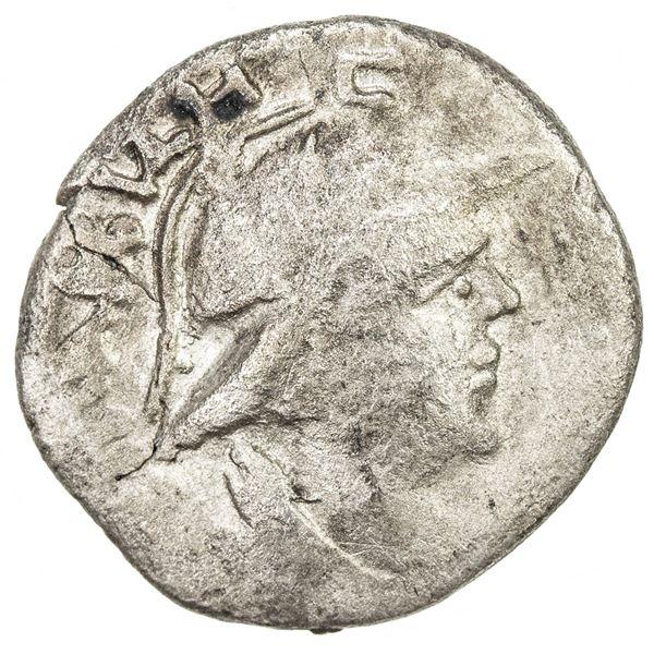 YUEH CHI: Sapadbizes, ca. 20-1 BC, AR unit (1.15g), Fine