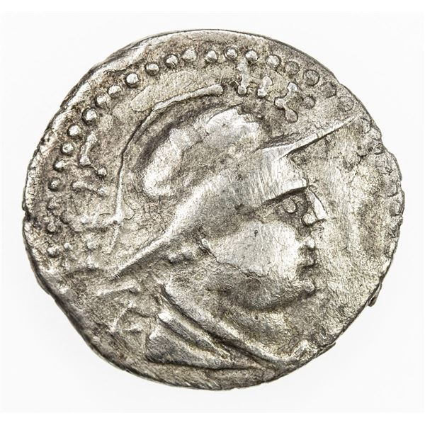 YUEH CHI: Agasiles, also ca. 20-1 BC, AR unit (1.11g). VF