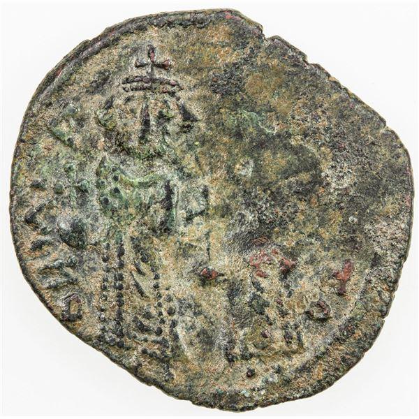 "PERSIAN OCCUPATION OF SYRIA: ""Heraclius & Constantine"", 610-629, AE follis (5.97g), TONCO, DM. VF"