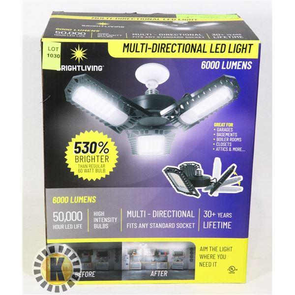 NEW MULTI-DIRECTIONAL LED LIGHT 6000 LUMENS
