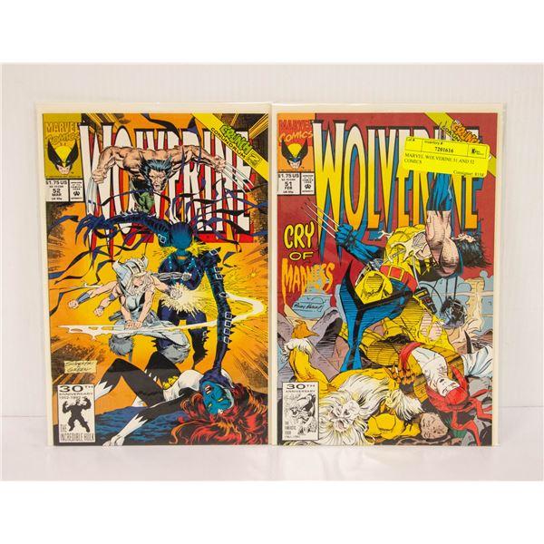 MARVEL WOLVERINE 51 AND 52 COMICS