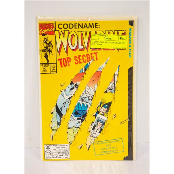 MARVEL WOLVERINE 50 COMIC DIE CUT COVER