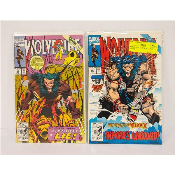 MARVEL WOLVERINE 48 AND 49 COMICS