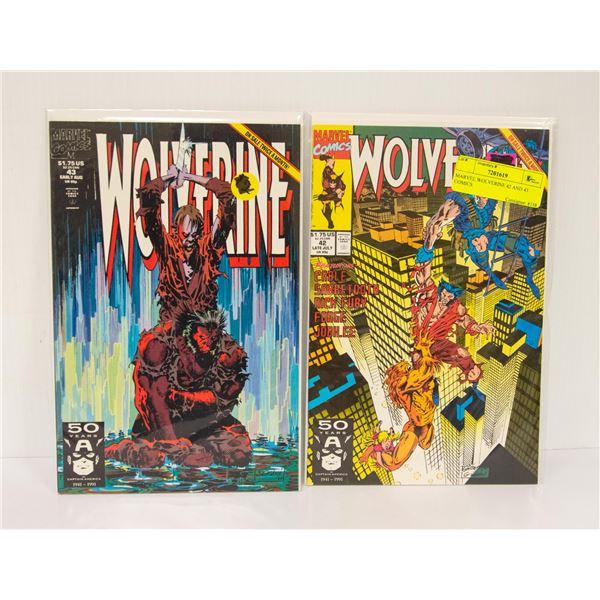 MARVEL WOLVERINE 42 AND 43 COMICS