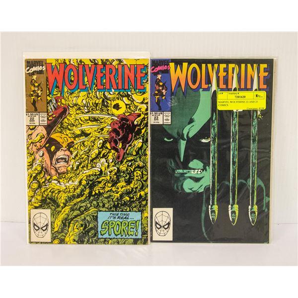 MARVEL WOLVERINE 22 AND 23 COMICS