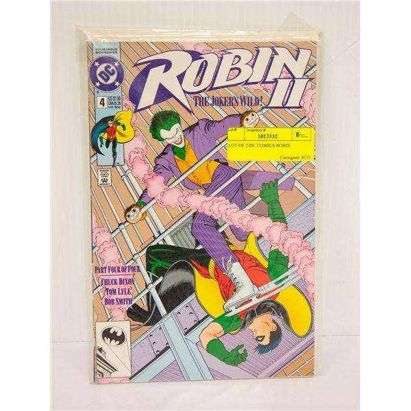 LOT OF 2 DC COMICS ROBIN