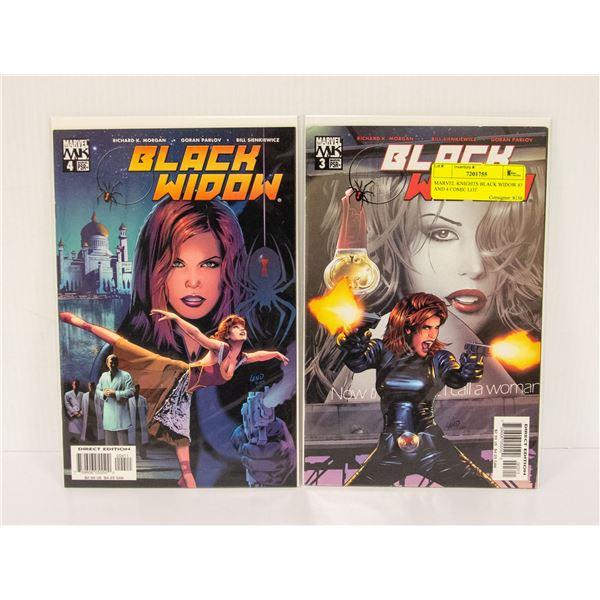 MARVEL KNIGHTS BLACK WIDOW #3 AND 4 COMIC LOT