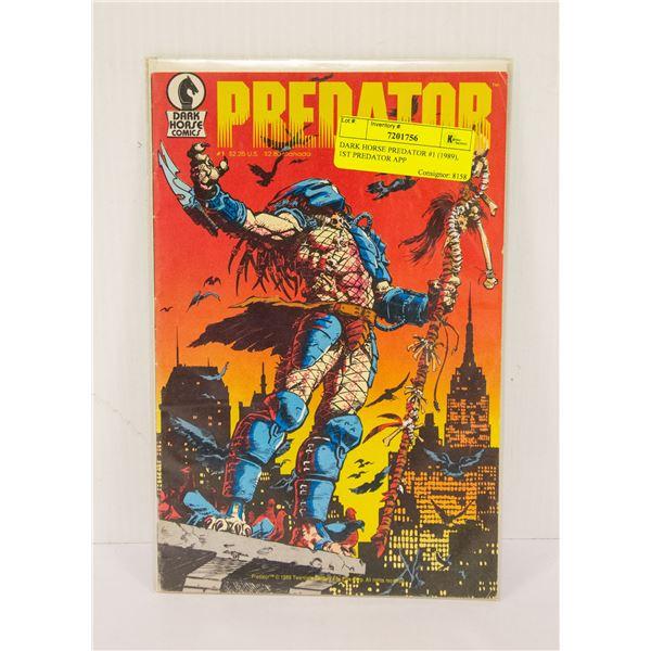 DARK HORSE PREDATOR #1 (1989), 1ST PREDATOR APP