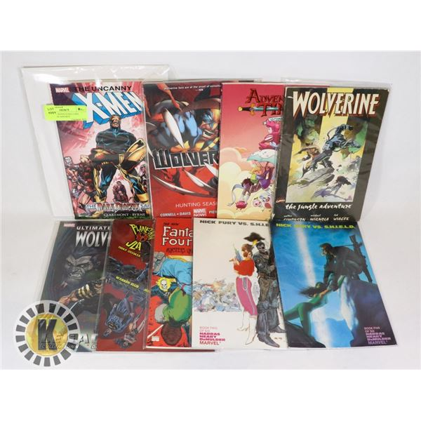 9 GRAPHIC NOVELS INCLUDES WOLVERINE AND KEY
