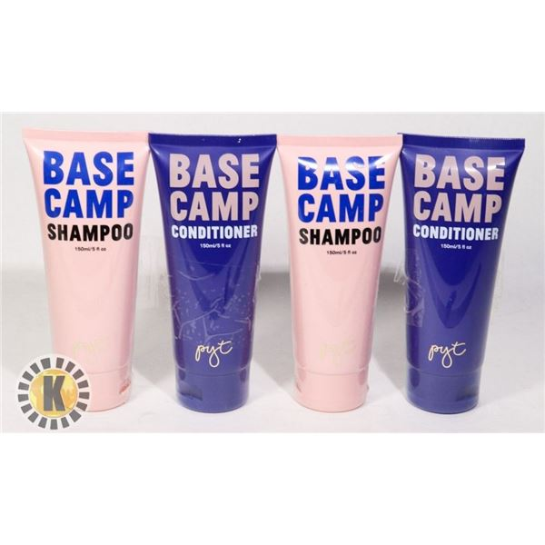 2 BASE CAMP SHAMPOOS AND 2 BASE CAMP CONDITION