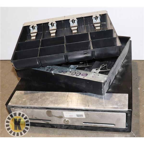 POS CASH DRAWER AND 2 CASH TRAYS