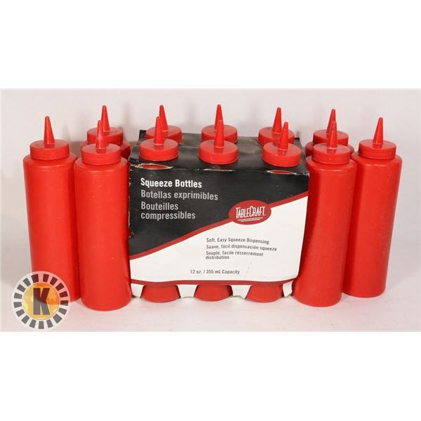 12 SOFT SQUEEZE BOTTLE- 355ML CAPACITY