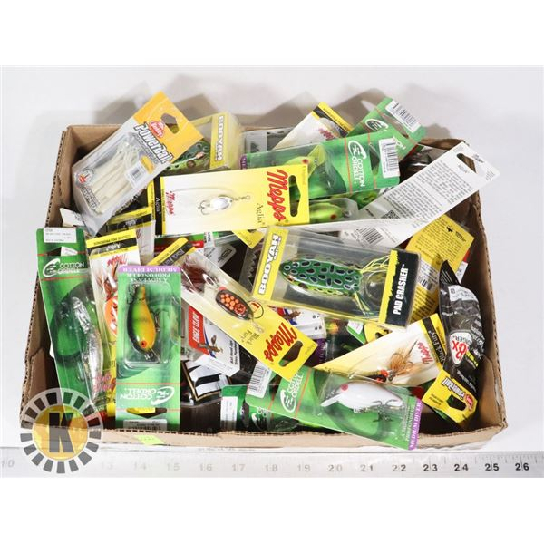 LARGE FLAT OF ASSORTED FISHING TACKLE