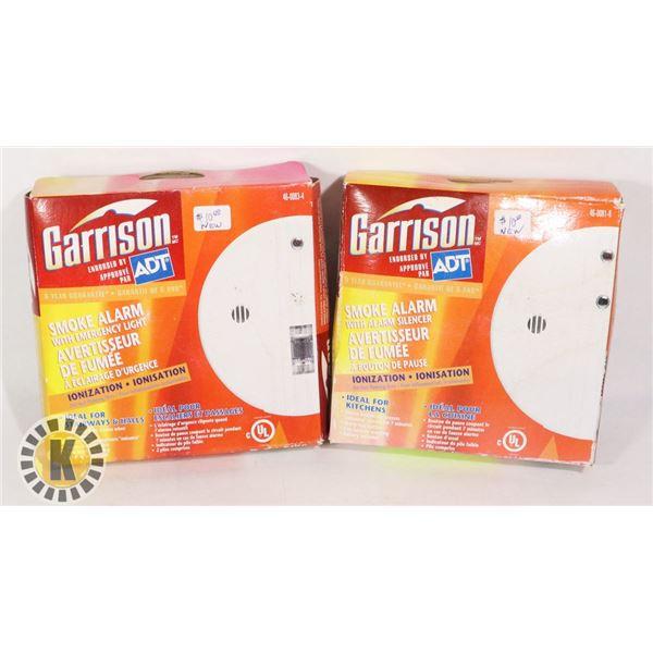 2 GARRISON SMOKE ALARM WITH ALARM SILENCER