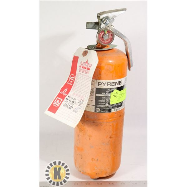 1 SMALL PYRENE FIRE EXTINGUISHER