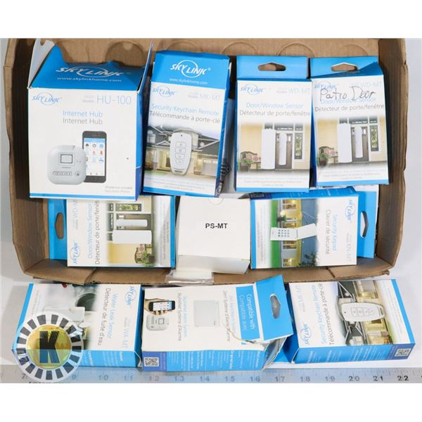 9 ASSORTED SKYLINK HOME SECURITY GADGETS