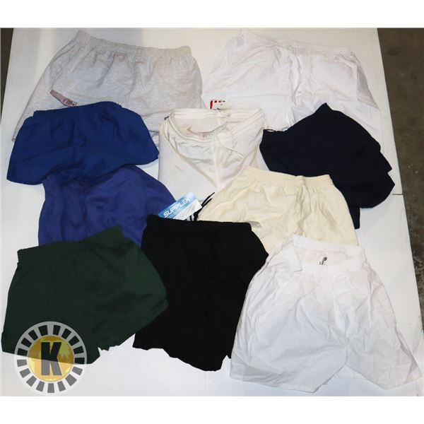 10 ASSORTED SIZE SHORTS