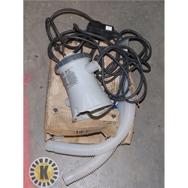 INTEX KRYSTAL CLEAR FILTER PUMP MODEL 601