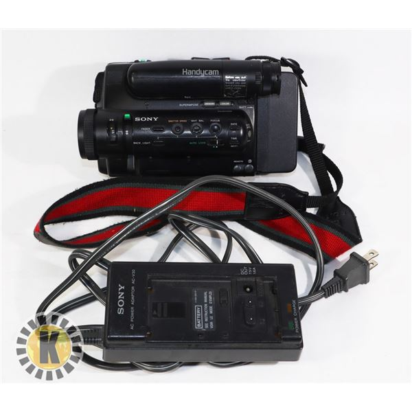 SONY CAMCORDER- CCD-TR5 AND POWER ADAPTER