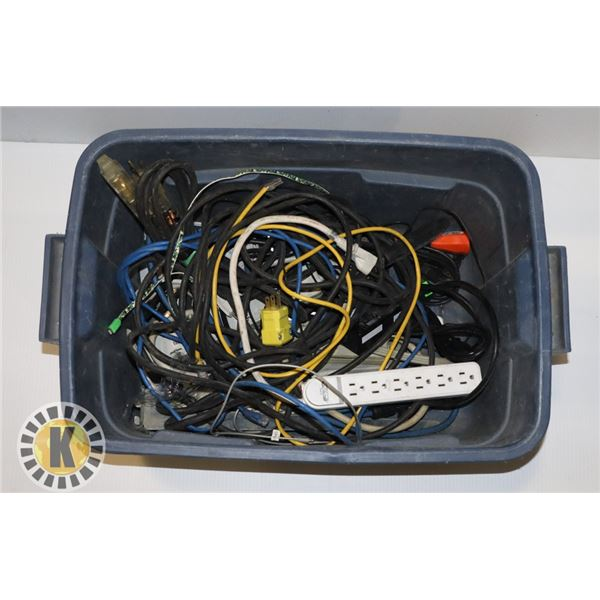 ESTATE BOX OF ASSORTED CABLES