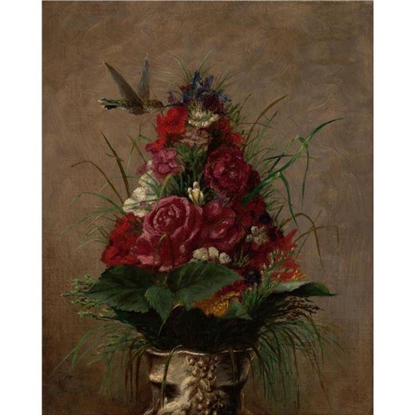 William Merritt Chase - Still Life with Hummingbird