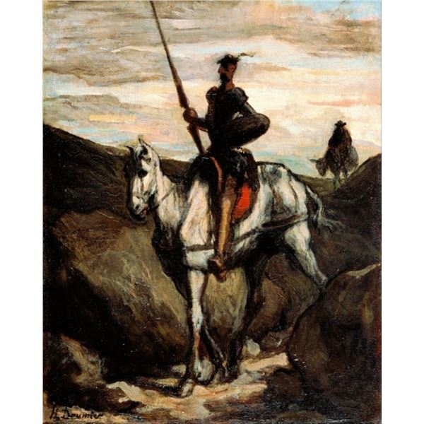 Honore Daumier - Don Quixote in the Mountains