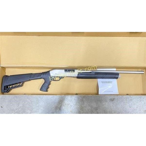 """Citadel PAX Tactical Pump 12 GA 20"""" Nickel Finish"""