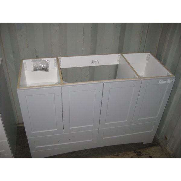 HOME DEPOT 1001385035 48 INCH VANITY BASE APPEAR GOOD PLEASE VIEW