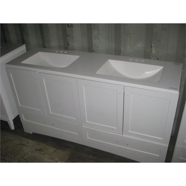 GLACIER BAY 1001048202 60 INCH VANITY SMALL SCRATCHES PLEASE VIEW
