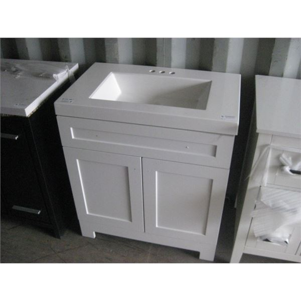 HOME DEPOT 1001520269 30 INCH VANITY APPEARS GOOD PLEASE VIEW