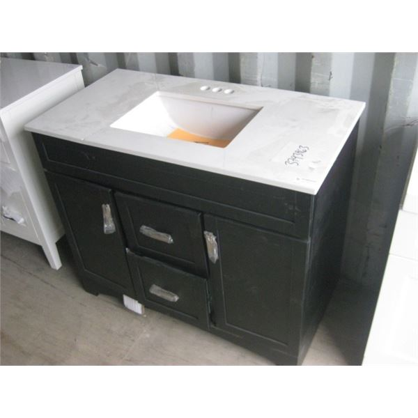 HOME DEPOT 1001511028 42 INCH VANITY CRACKED TOP PLEASE VIEW