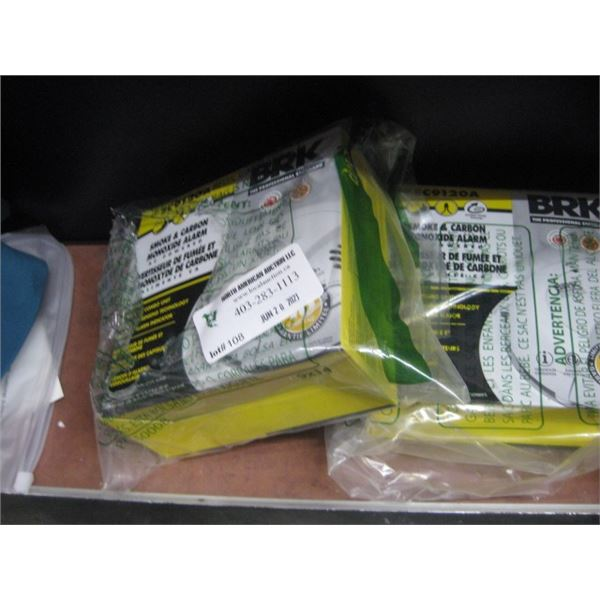 BRK SMOKE AND CARBON MONOZIDE ALARM 2 PC