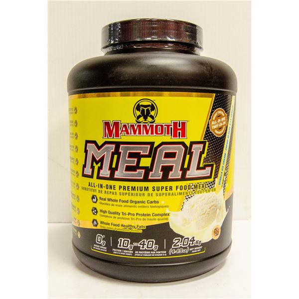 MAMMOTH MEAL ALL-IN-ONE SUPER FOOD MEAL VANILLA