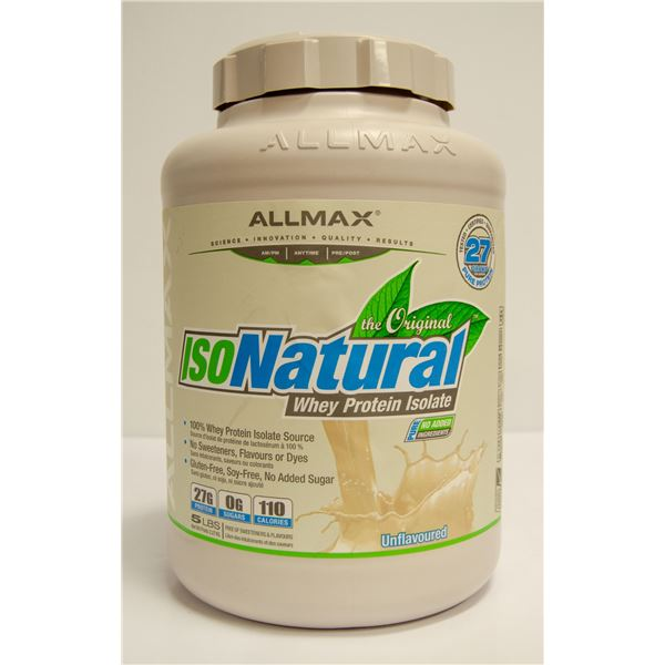 ALLMAX ISONATURAL WHEY PROTEIN ISOLATE 5LBS