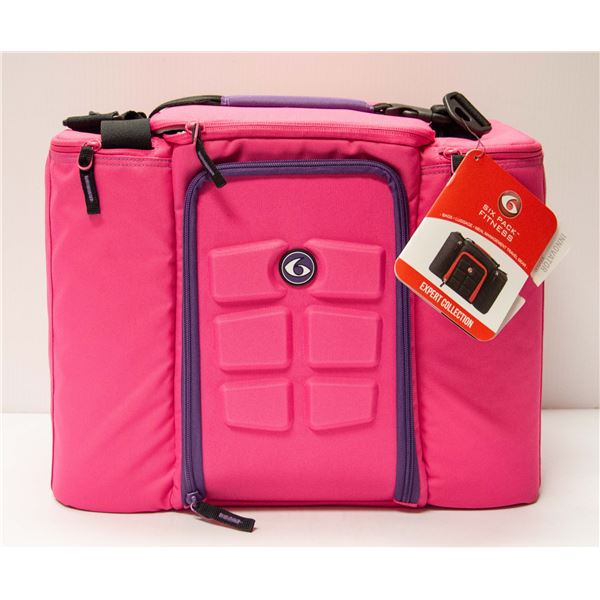 SIX PACK FITNESS PINK & PURPLE LARGE SIZE CARRY