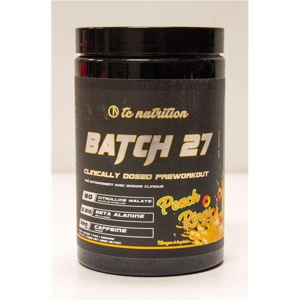 TC NUTRITION BATCH 27 CLINICALLY DOSED