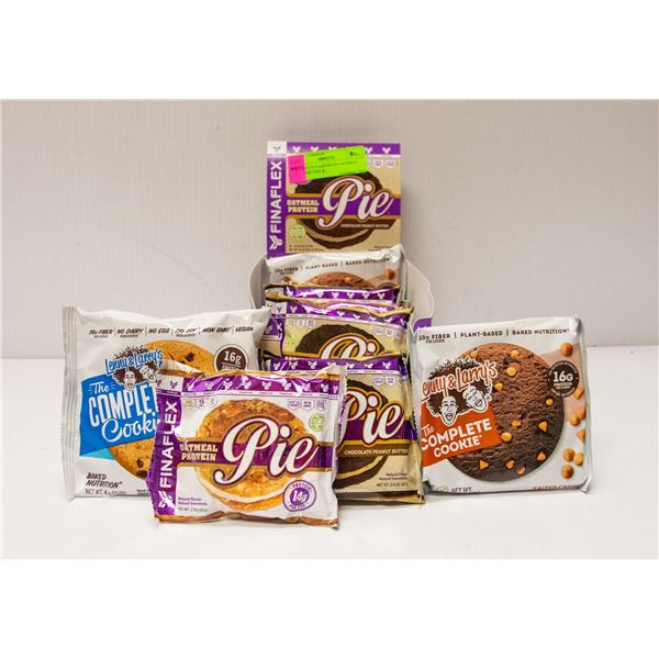 BOX WITH 9 ASSORTED OATMEAL PROTEIN PIES &