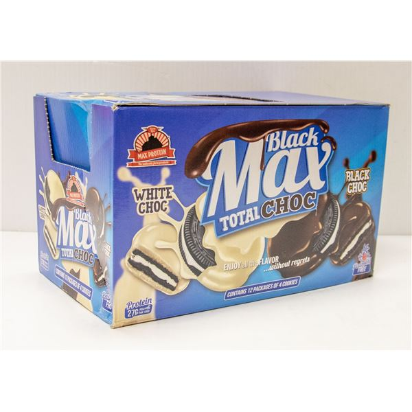 CASE OF BLACK MAX TOTAL CHOC COOKIES 12 PACKAGES