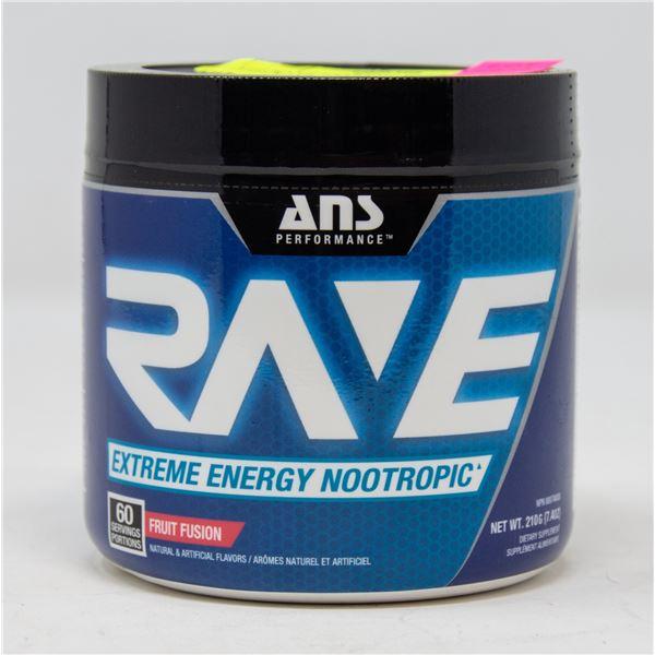 ANS RAVE EXTREME ENERGY NOOTROPIC FRUIT FUSION